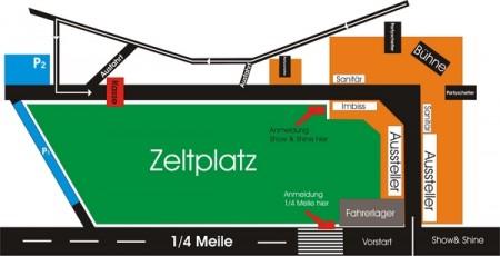 Flughafenrennen MV Lageplan