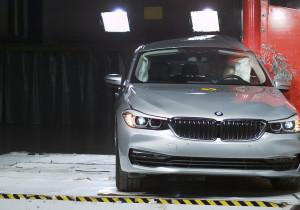 BMW 6er GT im Euro-NCAP-Crashtest.